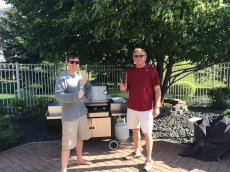 Adoptive Family Photo: Scott & His Dad Grilling-  a.k.a. the Two 'Grill Masters', click to view bigger version