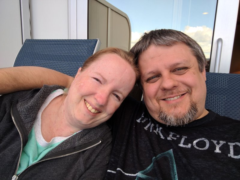 Relaxing On Our 10th Anniversary Cruise in Alaska