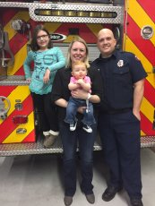 Adoptive Family Photo: Visiting the Fire Station, click to view bigger version