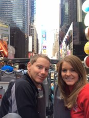 Adoptive Family Photo: Bus Tour of Times Square in New York City, click to view bigger version