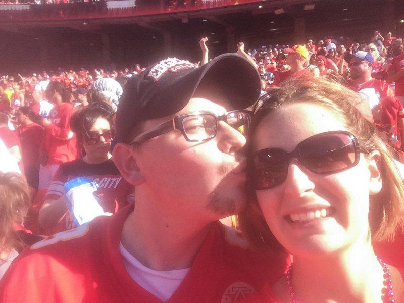 Cheering on the Chiefs at Arrowhead Stadium