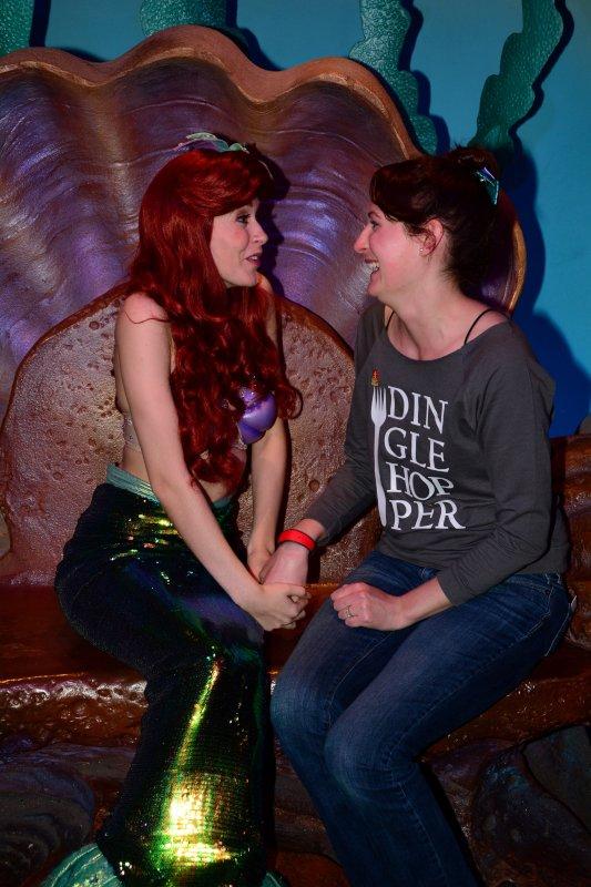 Meeting Her Favorite Disney Princess
