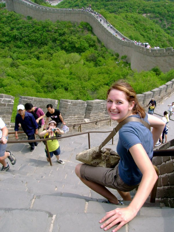 Mellissa Scaling the Great Wall of China