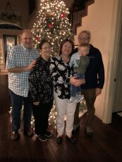 Adoptive Family Photo: Christmas With Jackson's Grandparents