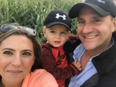 Adoptive Family Photo: Family Selfie After the Corn Maze