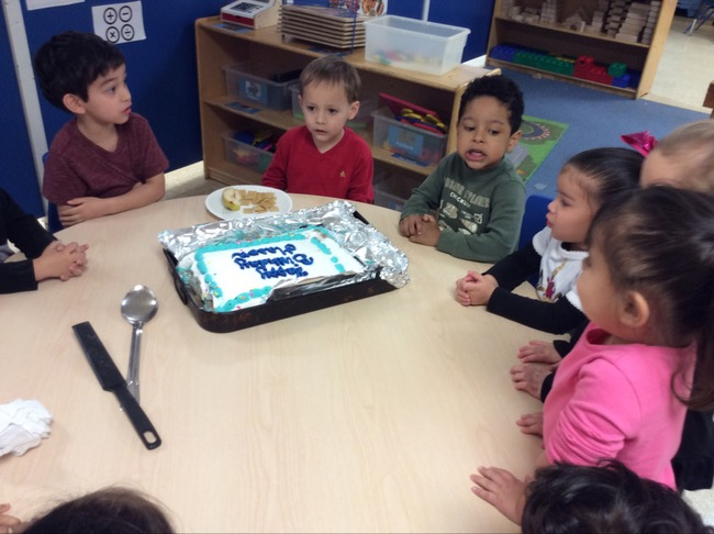 Mason Celebrating His Birthday at School