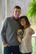 Adoptive Family Photo: With Our Pup, Chewie, click to view bigger version
