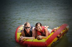 Adoptive Family Photo: Tubing at the River, click to view bigger version