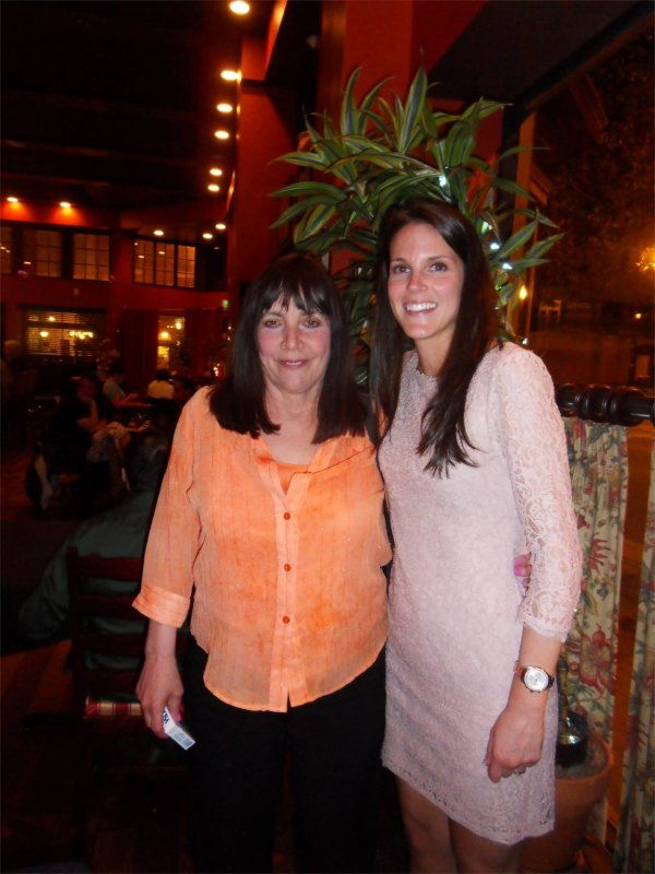 Kate with John's Mom Before Dinner Together