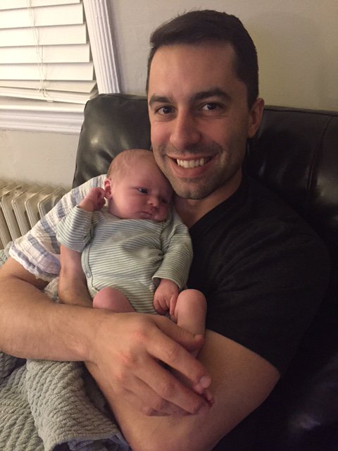 John Holding Our Best Friend's Newborn
