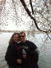 Adoptive Family Photo: Enjoying the Cherry Blossoms in D.C., click to view bigger version