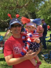 Adoptive Family Photo: Fourth of July With Our Niece, click to view bigger version