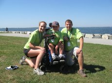 Adoptive Family Photo: With Our Nephew at a Race to Benefit Charity, click to view bigger version