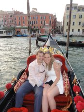 Adoptive Family Photo: Gondola Ride in Venice, click to view bigger version