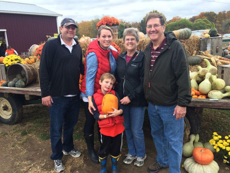 Pumpkin Patch With Grandma & Grandpa