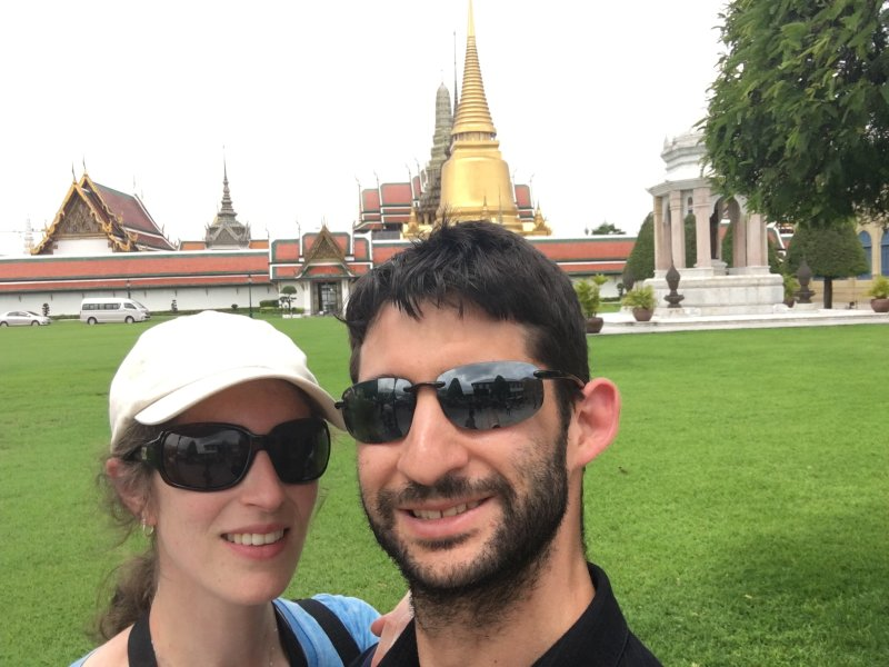 Together In Front of the Bangkok Royal Palace