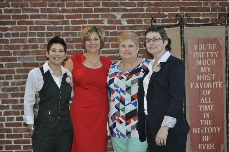 With Our Moms at Our Wedding