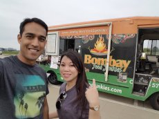 Adoptive Family Photo: Trying Out a New Food Truck