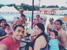 Adoptive Family Photo: Pool Day with Family