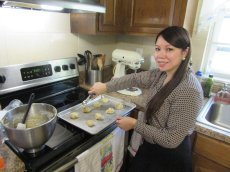 Adoptive Family Photo: Armi Loves to Bake and Cook