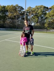 Adoptive Family Photo: Playing Tennis with Our Niece
