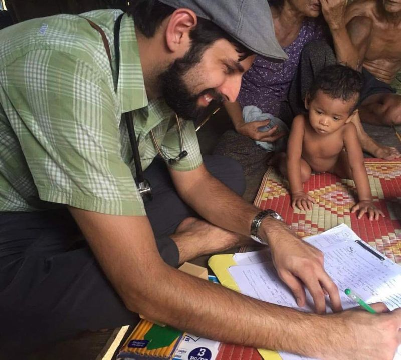 Jameel Working at a Clinic in Cambodia