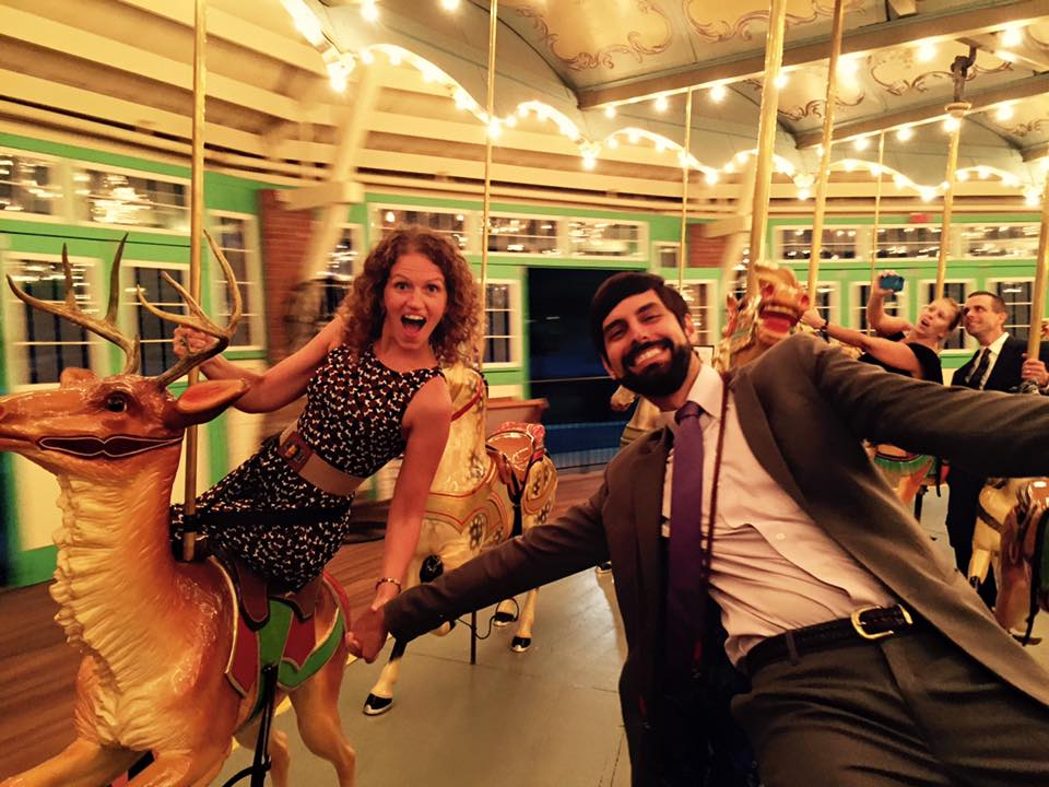 Guests at a Fairground Wedding