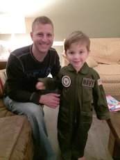 Adoptive Family Photo: Flight Suit from Uncle Joey