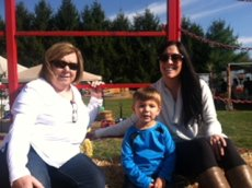 Adoptive Family Photo: Family Hayride to Pick Out Pumpkins