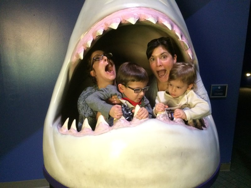 Fun at the Aquarium With Our Niece & Nephew