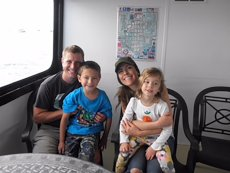 Adoptive Family Photo: Ferry Ride With Our Niece & Nephew