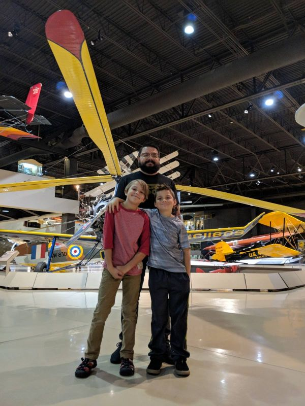 Visiting the Airplane Museum with Callie's Cousins