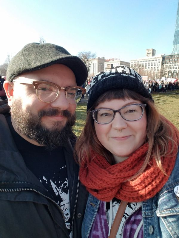 At the Chicago Women's March