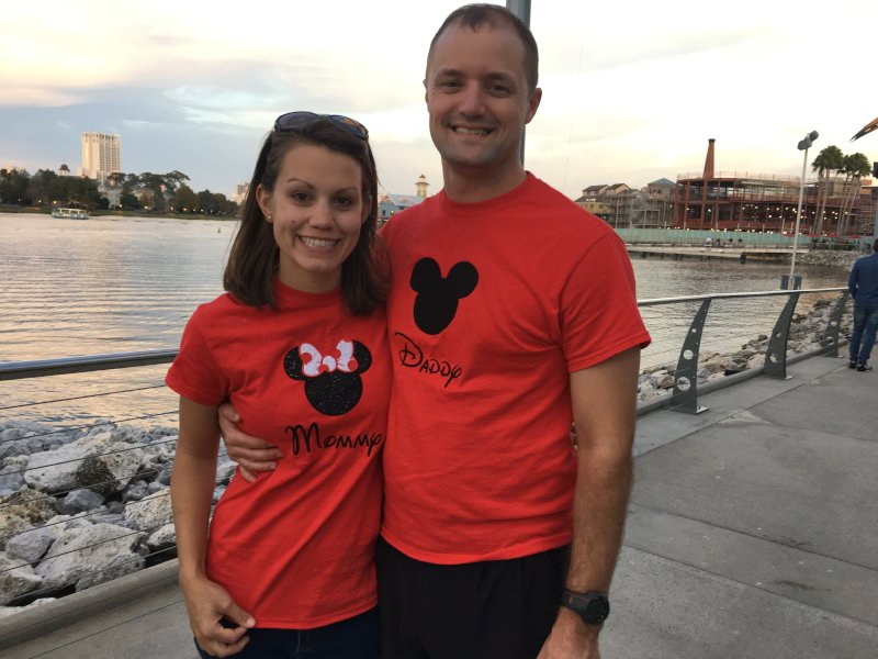 Proudly Sporting Our Mommy and Daddy Shirts