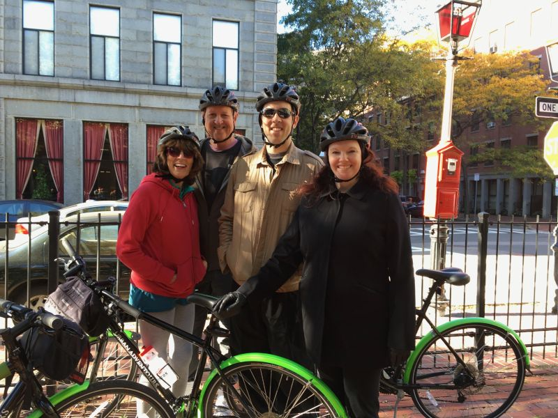 Bike Tour of Downtown Boston With Benjie's Parents