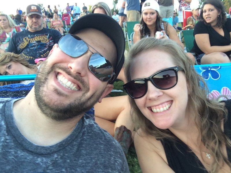 All Smiles at an Outdoor Concert