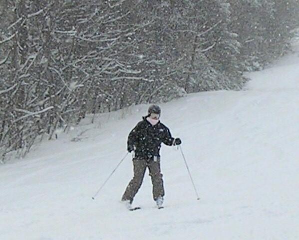 Kathryn Skiing