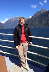 Adoptive Family Photo: Lindsay Exploring Milford Sound, click to view bigger version