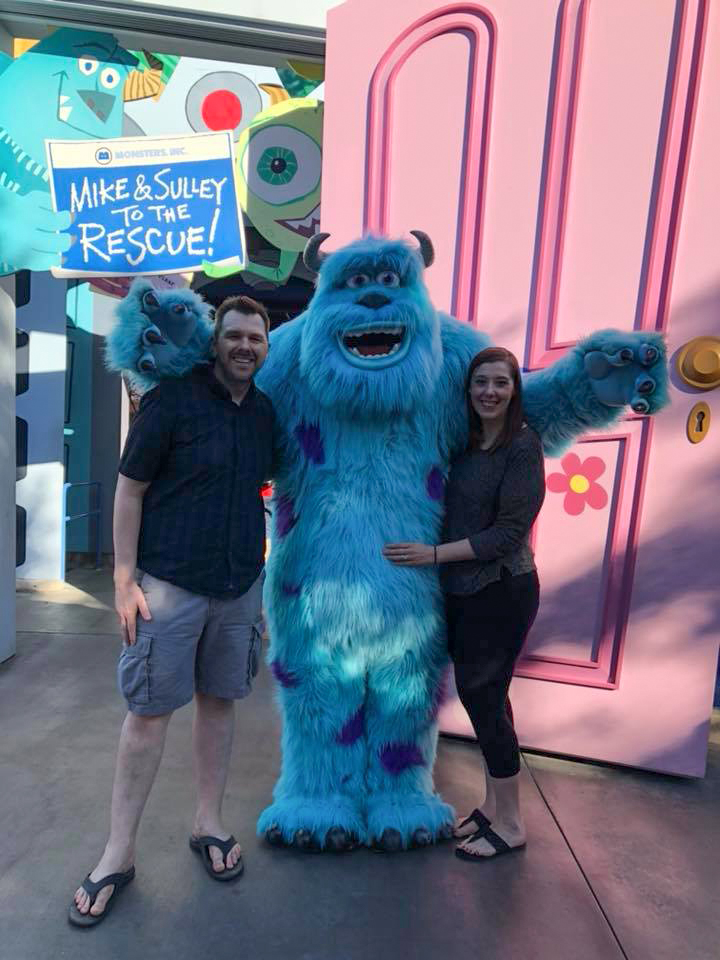 Meeting Sully at Disneyland