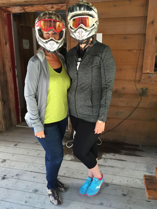 Vanessa and Her Mom Ready to Ride ATVs
