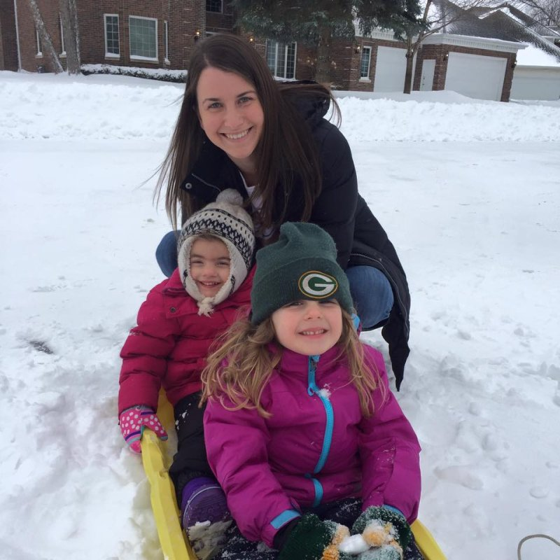 Sledding With Our Nieces