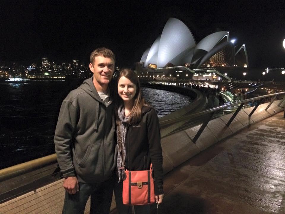 At the Opera House in Sydney, Australia