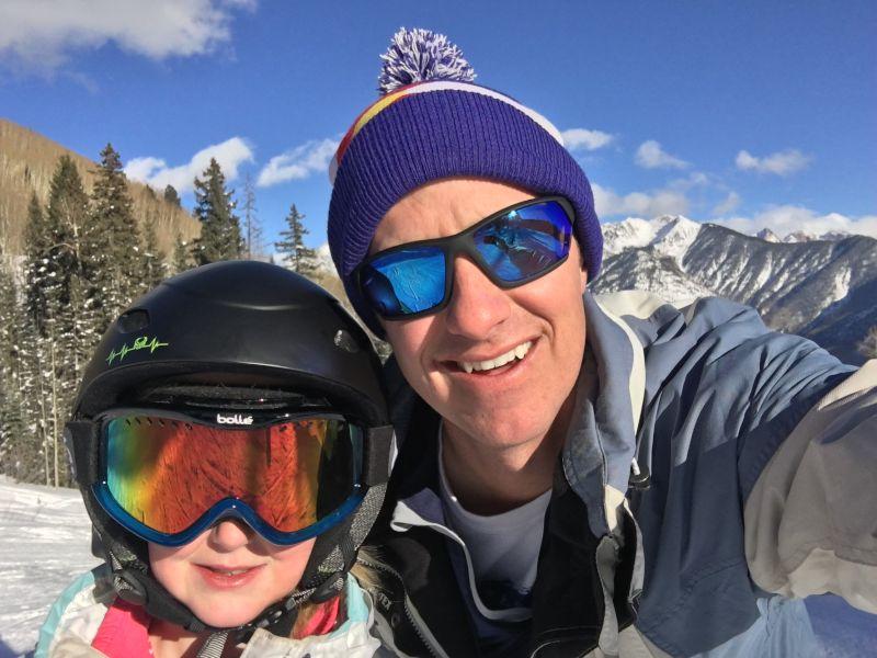 Andy & Atley Skiing
