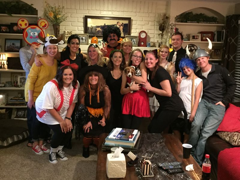 Each Year We Host a Halloween Party for Our Friends & Family