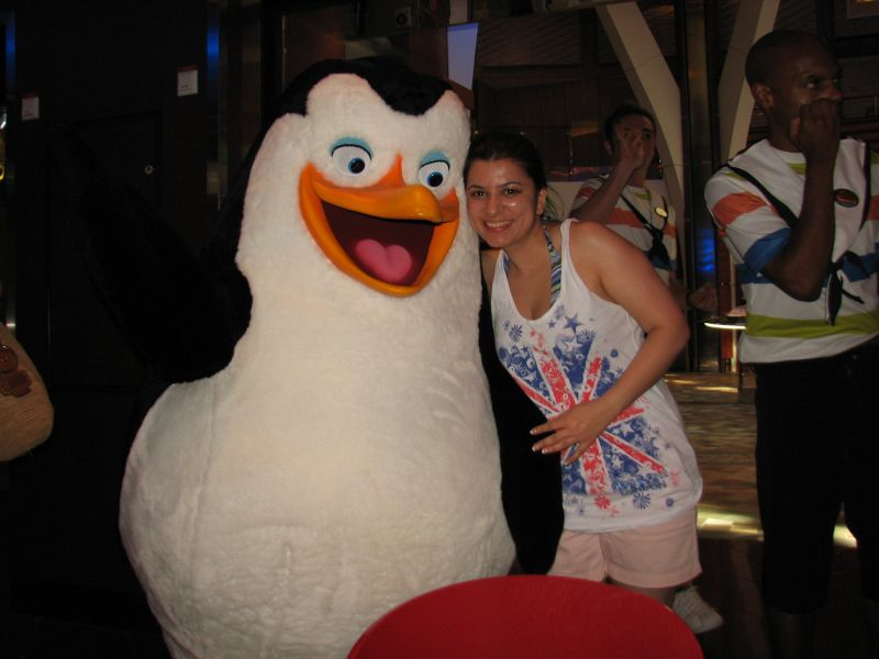 Posing With the Penguin