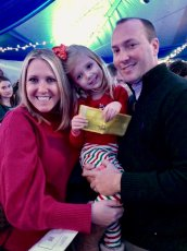 Adoptive Family Photo: Ready to Board the Polar Express!, click to view bigger version