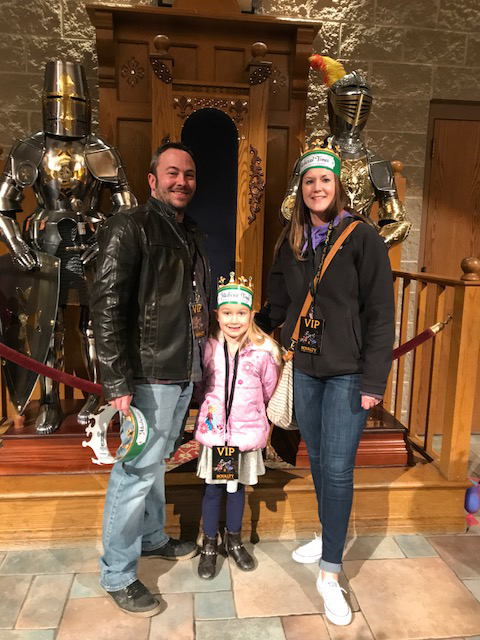 Ready to Cheer On Our Knight at Medieval Times