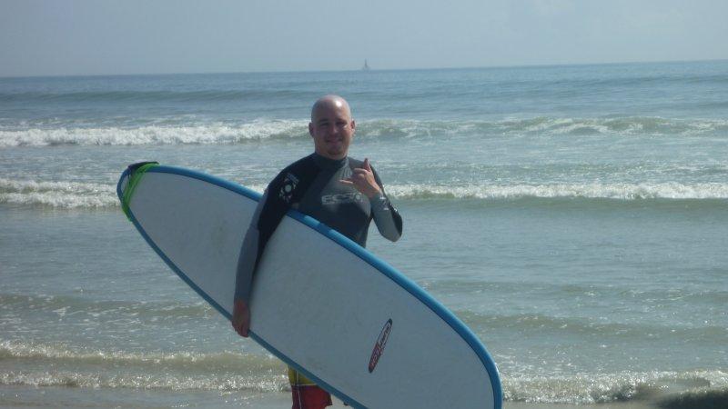 Sean Ready to Surf