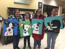 Adoptive Family Photo: Paint Your Pet Charity Event, click to view bigger version