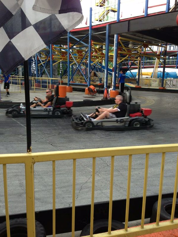 Family Go Kart Race in Gatlinburg